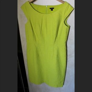 Ann Taylor chartreuse colored straight dress